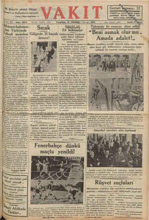 2 lsei Yıl » Sayı: 5934 Dr. Beneş'in görüşü: Dünya taseti ve Balkanların vaziyeti — Tazısı Ülinci sayırada — Yazı İşleri...