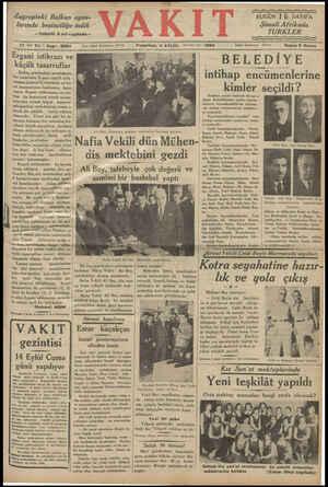 """Zagrepteki Balkan oyun- larında beşinciliğe i 'ndik —Tafsilât 2 nci sayıfada— — A 17 ind Yıl """" Sayı: 5983 mm Pazartesi, 3"""