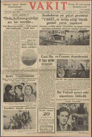 Almanya siyaset âlemini kuşkulandırıyor — Z nci sayıfada — Konsey, ük nota projesin Sovyetlere verdi —Z nci sayıfada — amanın