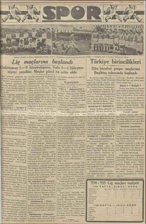 Soldan: Kocaeli ve Bursa şampiyonları maçtan evvel — Galatasaray İstanbul spor maçından bir görünüş — İstanbuls poru 1—0