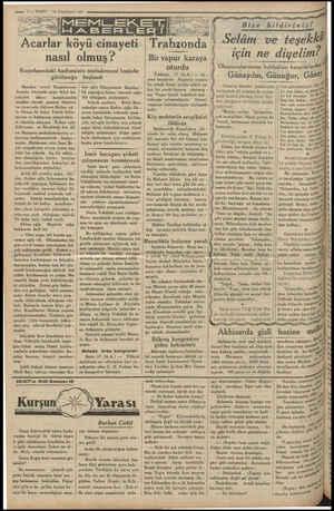 men $— VABEİT 18 Teşrinisani 1934 Acarlr köyü cinayeti nasıl olmuş? Kuşadasındaki hadisesinin muhakemesi Izmirde görülmeğe