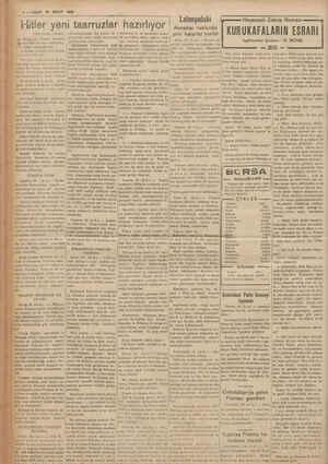 6—VAKİT 30 NİSAN (Baş tarafı 1 ncide) ç. Bış gutuk bütün Manasile tr meydan okuma mühiyetin - - de telâkki edilmektedir.