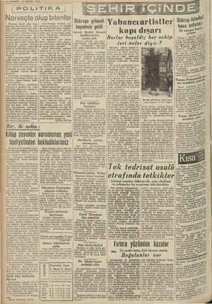 "PST - - "" e U c —— —i - e Z—VAKIT 2 MAYIS 1940   POLİTİKA ; Norveçte olup bitenler Norveçte devam eden harp   — Aynı..."