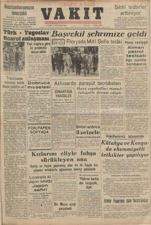 — Reisicumhurumuzun tenezzühü < İstanbul, 3 (A.A.) — İsmet İn- 9nü, bu akşam Parkotele teşrif bu- Yurmuslar ve akşam yemeğini