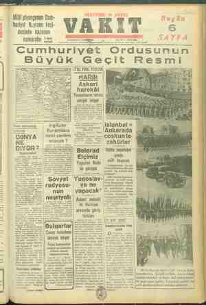 / Millifpiyangonun Cüm- huriyet Beyramı keşi- desinde kaz numaralar allan 3 üncü sayfada ÇARŞAMBA 80 L İDARK EVİ; Ankara Cad.