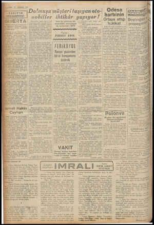 AĞDSTOS 1961 «VAKIT'IN NDİKLOPEDIS! ı&EüYA ün haberleri ara anın Siberyada I.ıu., ürler almıya — başladığ vardı. Otomobille:
