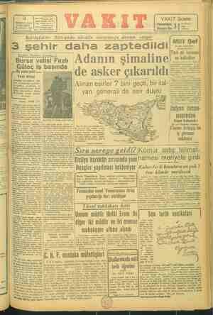 "AKFI Yurd 14 .e ""an Ankara cad ota vi ist, © TEMMUZ 1943 İto vakrı #stanmu ÇARŞAMBA 10 (idare) 26*SAYI: 9126 İ.'""'0"" mlm"
