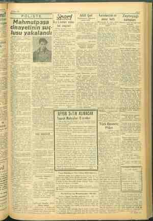 VE Mart 1945 POLIST E Milli Şef (| Karadenizde bir | Zeytinyağı Ya ozi motor battı , i  satışl Mahmutpaşa Kız Liseleri...