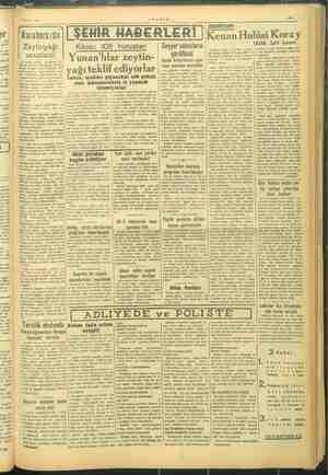 — . e 2 y —- sanmam g —VAKIT., T Haziran 1945 e | EDEBİYAT: i v K , 1 ŞEHİR HABERLER a Hulüsi oray | 2r | | Karaborsıda a :