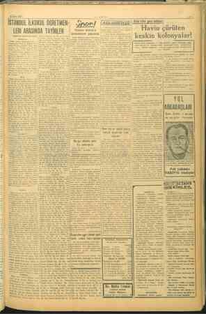 19 Eytdi 1945 —VAKIT- —5—, İSTANBUL İLKOKUL ÖĞRETMEN Snorl Isısa Keman (KISA HABERLER | Sehirde gez.ntileri | > . : Gini...
