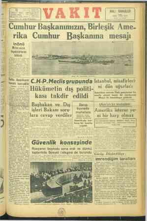 ırma ik artlaşı» dük mar le birlik yg) Ankara cad. <A vakıry İ idare'e NISAN 1946; Tele, VAKTE İstan ŞARŞAMBA j...