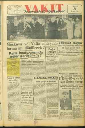 Ankara Gideli X VAKIT yurdu STA Posta kutusun 46 ALI ii Tele. e sayı: 10178 | Sayısı 10 Krş. & # 23 pa ; & 4 19 Mayıs...