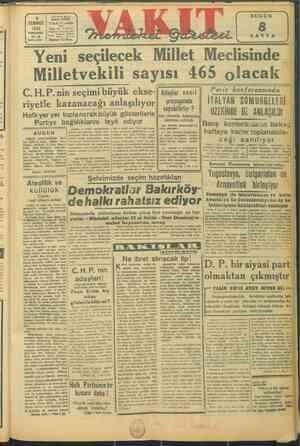 246 4 TEMMUZ 1946 PERŞEMBE Yi: azı * #13 SAYI: 10292 Sayısı 10 Krş. N > 2 SAYFA Lİ 3 Yeni seçilecek Millet Meclisinde...