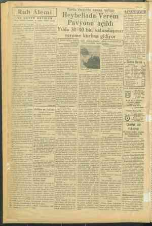 ürtt Veremle savaş NELER Heybeliada Verem york Pavyonu açıldı (ix ılda 30-40 bin vatandaşımız ©. 1. 14.30 Kaj : vereme...