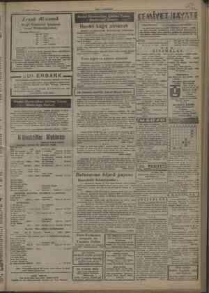 Yakıt — Yeni Gazete 17 EKİM 1947 Pam i N il Cİ çarem LE sika af İl Erzak Alınacak . vk i j Jtibeari EE j Ereğli Kömürleri...
