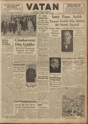 Vatan Gazetesi 21 Ağustos 1940 kapağı