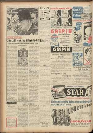 BULMACA Churehili, ağzından eksik olma yan purosiyle Churchill çok mu ihtiyarladı? Bütün dedikodulara rağmen en Başbakan