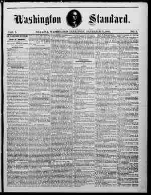 The Washington Standard Gazetesi 15 Aralık 1860 kapağı