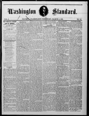 The Washington Standard Gazetesi 2 Mart 1861 kapağı