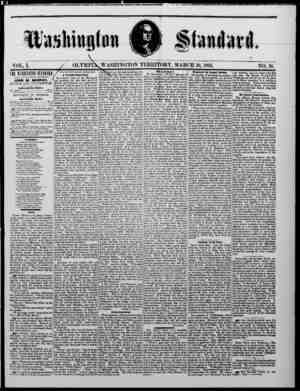 The Washington Standard Gazetesi 16 Mart 1861 kapağı