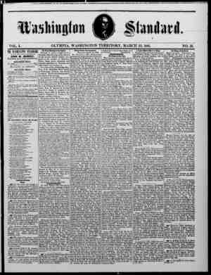 The Washington Standard Gazetesi 23 Mart 1861 kapağı