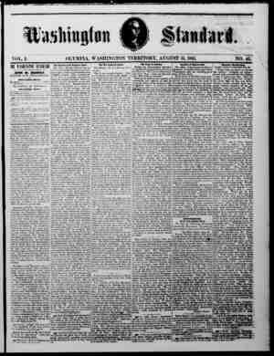 Washington Standard. VOL I. THE VJIIIJtTH ST Ml 111 l —!« rVEKV KITCBUAT MORNING BY JOHN M. MURPHY, EDITOR AND PROPRIETOR. -