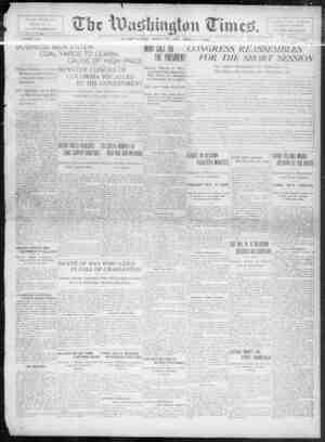 The Washington Times Gazetesi 1 Aralık 1902 kapağı