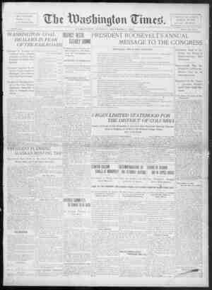 The Washington Times Gazetesi 2 Aralık 1902 kapağı