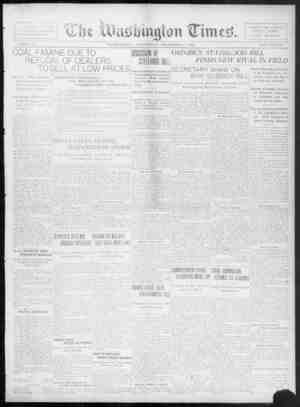 The Washington Times Gazetesi 3 Aralık 1902 kapağı