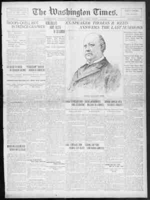 The Washington Times Gazetesi 7 Aralık 1902 kapağı