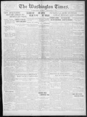 The Washington Times Gazetesi 11 Aralık 1902 kapağı