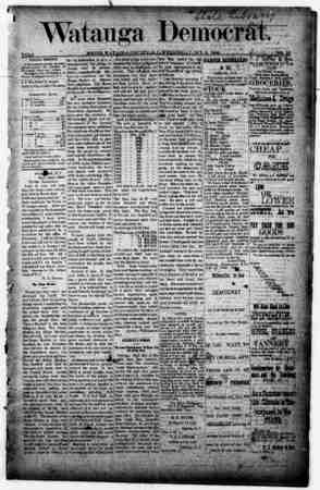 Watauga Democrat Gazetesi 3 Ekim 1888 kapağı