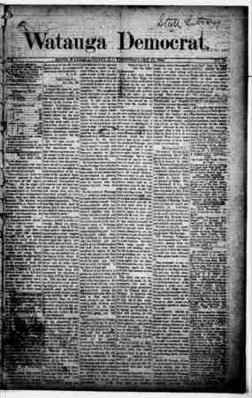 Watauga Democrat Gazetesi 17 Ekim 1888 kapağı