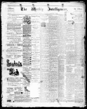 The Weekly Intelligencer Gazetesi 21 Şubat 1891 kapağı