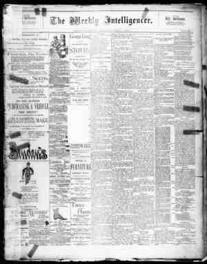 The Weekly Intelligencer Gazetesi 7 Mart 1891 kapağı