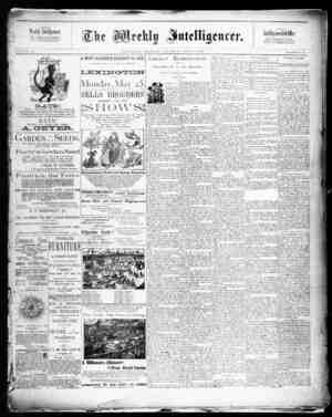 The Weekly Intelligencer Gazetesi 9 Mayıs 1891 kapağı