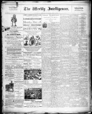 The Weekly Intelligencer Gazetesi 16 Mayıs 1891 kapağı