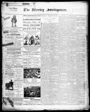 The Weekly Intelligencer Gazetesi 23 Mayıs 1891 kapağı