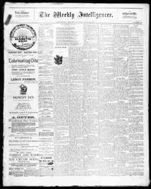 The Weekly Intelligencer Gazetesi 18 Temmuz 1891 kapağı