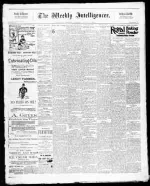 The Weekly Intelligencer Gazetesi 8 Ağustos 1891 kapağı