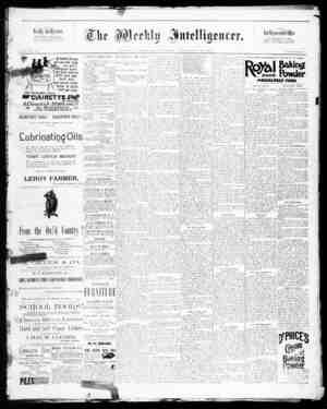 The Weekly Intelligencer Gazetesi 19 Eylül 1891 kapağı