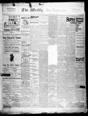 The Weekly Intelligencer Gazetesi 26 Eylül 1891 kapağı