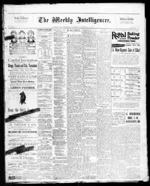 The Weekly Intelligencer Gazetesi 3 Ekim 1891 kapağı