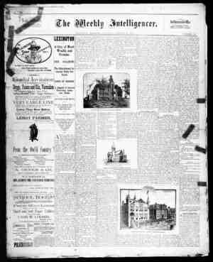 The Weekly Intelligencer Gazetesi 10 Ekim 1891 kapağı