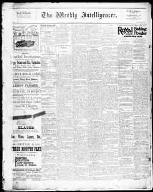 The Weekly Intelligencer Gazetesi 17 Ekim 1891 kapağı