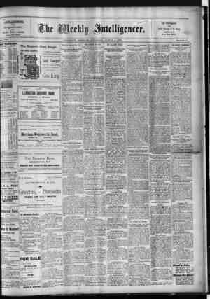 ..INTELLIGENCER utii Recognized Leader Lcding Newspaper of the Count lUMCaiBS tOB It $1.00 PER YEAR. IV' Lafauttt.- County