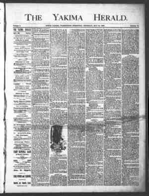 Yakima Herald Gazetesi 30 Mayıs 1889 kapağı