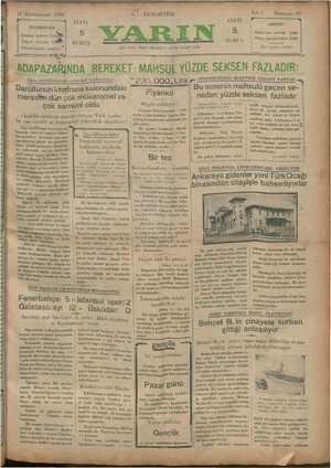 1i Kânunusani 1930 İDAREHANE İstanbul Ankara c.a.'ıâk Telgraf : İstanbul yarı . - Telefon tesisatı yapılıyor ——— ——— —— — Dün