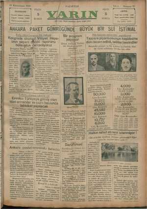 13 Kânunusani 1930 731 İDAREHANE İstanbul Ankara Caddesi Telgraf : İstanbul YARIN Telefon tesisatı »yapılıyor — ANKARA...
