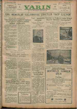 15 Kânunusani 1930 İDAREHANE İstanbul mauî ! Telgrğiş İstagbul YARIN Telefon tesisatı yapılıyor — ——— aa n TÜRK MEMURLAR